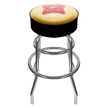 Trademark 30'' Novelty Swiveling Base Padded Bar Stool, Red (886511379350)