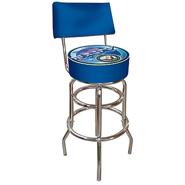 Trademark 40'' Novelty Swiveling Base Padded Bar Stool, Blue (844296015689)