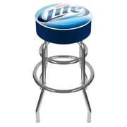 Trademark 30 Padded Swivel Bar Stool, Miller Lite
