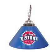 "Trademark NBA 14"" Single Shade Gameroom Lamp, Detroit Pistons"