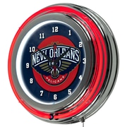 Trademark NBA 14 Double Ring Neon Clock, New Orleans Pelicans