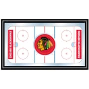 Trademark NHL 15 x 26 x 3/4 Wooden Hockey Rink Framed Mirror, Chicago Blackhawks