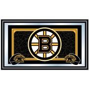 Trademark NHL 15 x 27 x 3/4 Wooden Team Logo Framed Mirror, Boston Bruins