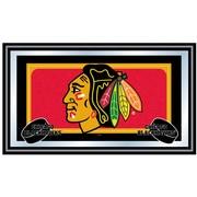 Trademark NHL 15 x 27 x 3/4 Wooden Team Logo Framed Mirror, Chicago Blackhawks