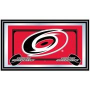 Trademark NHL 15 x 27 x 3/4 Wooden Team Logo Framed Mirror, Carolina Hurricanes