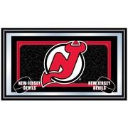 Trademark NHL 15 x 27 x 3/4 Wooden Team Logo Framed Mirror, New Jersey Devils