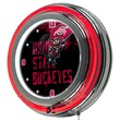 Trademark 14in. Double Ring Neon Clock, Ohio State Smoking Brutus
