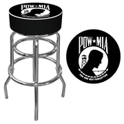 Trademark 30 Padded Swivel Bar Stool, POW (Made in USA)