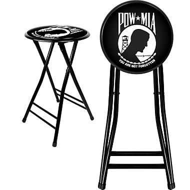 Trademark Not available 24'' Novelty Folding Stool Padded Bar Stool, Black (844296085156)
