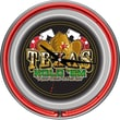 Trademark Joss & Main Exclusive 14in. Double Ring Neon Clock, Texas Hold 'em