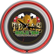 "Trademark Joss & Main Exclusive 14"" Double Ring Neon Clock, Texas Hold 'em"