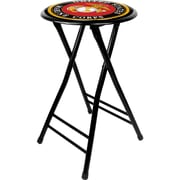 Trademark Not available 24'' Novelty Folding Stool Padded Bar Stool, Black (886511075665)