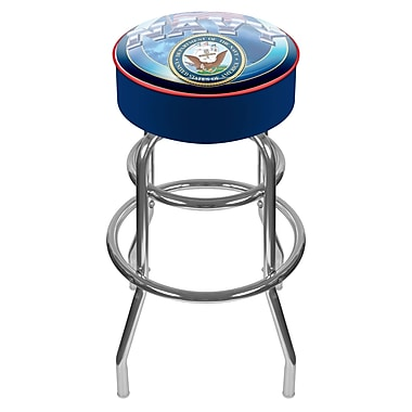 Trademark 30'' Novelty Swiveling Base Padded Bar Stool, Blue (844296014927)