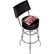 Trademark 41 3/4 WWE Padded Swivel Bar Stool With Back, The MIZ