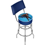 Trademark 41 3/4 WWE Padded Swivel Bar Stool With Back, Kids The Rock