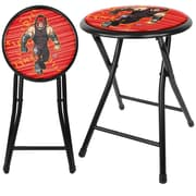 Trademark WWE Kids Kane 18 Steel Folding Stool, Black