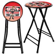 Trademark WWE Kids The Miz 24 Steel Folding Stool, Black
