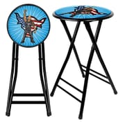 Trademark WWE Kids The Rock 24 Steel Folding Stool, Black