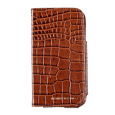Members Only book case for Samsung Galaxy S4, Cognac gator