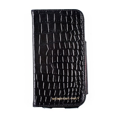 Members Only book case for Samsung Galaxy S4, Black gator