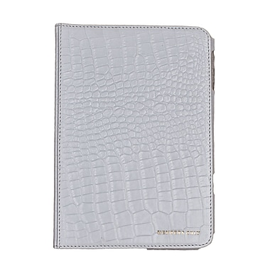 Members Only Bovine Leather Portfolio Case for Apple iPad Mini, White Gator
