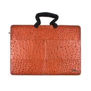Members Only Tablet/Laptop standard briefcase, Cognac ostrich