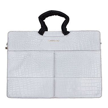 Members Only Tablet/Laptop standard briefcase, White gator