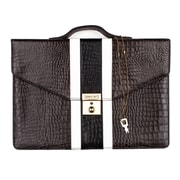 Members Only iPad briefcase, Gray gator