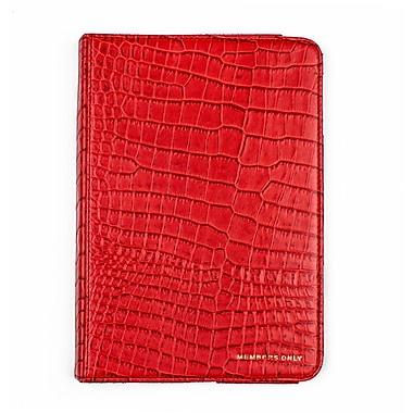 Members Only Bovine Leather Portfolio Case for Apple iPad Mini, Red Gator