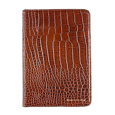 Members Only Bovine Leather Portfolio Case for Apple iPad Mini, Cognac Gator