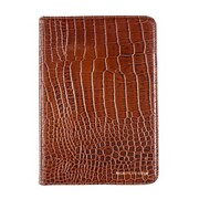Members Only Bovine Leather Portfolio Case for Apple iPad Mini, Cognac Gator