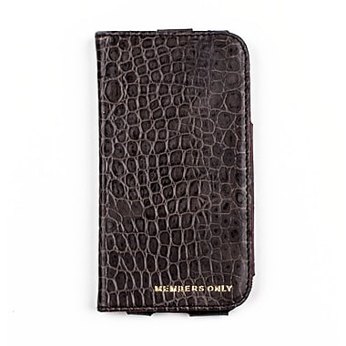 Members Only book case for Samsung Galaxy S4, Gray gator