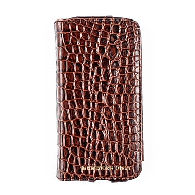 Members Only portfolio case for iPhone 5/5s/5c, Brown gator