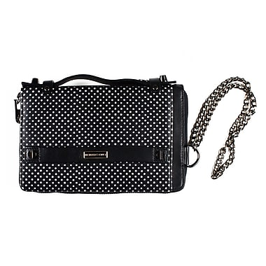 Members Only essential clutch with snap, White