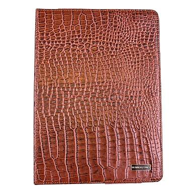 Members Only Bovine Leather Portfolio Case for Apple iPad Air, Cognac Gator