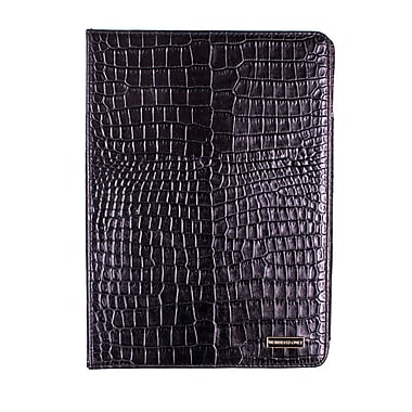 Members Only Bovine Leather Portfolio Case for Apple iPad Air, Black Gator