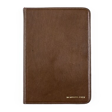 Members Only Bovine Leather Portfolio Case for Apple iPad Mini, Olive
