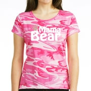 CafePress™ Women's Mama Bear Dark T-Shirt, Charcoal Heather, Large
