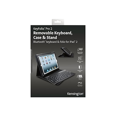 Kensington® KeyFolio™ Pro 2 Removable Keyboard Case For iPad 2/3/4, Black