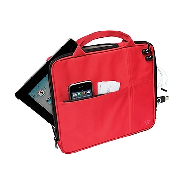 V7® Attache Slim Case With Pockets For All iPad, Red
