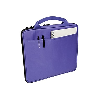 V7® Attache Slim Case With Pockets For All iPad, Purple