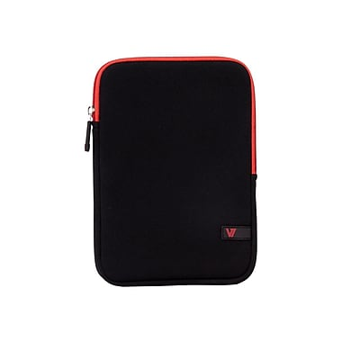 V7 TDM23BLK-RD-2N Neoprene Ultra Protective Sleeve for 8in. Apple iPad Mini and Tablet PCs, Black/Red