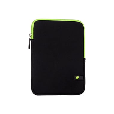 V7® Ultra Protective Sleeve For iPad Mini and Tablets Upto 8in., Black/Green