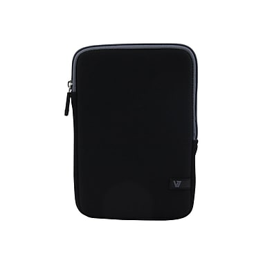 V7® Ultra Protective Sleeve For iPad Mini and Tablets Upto 8in., Black/Gray