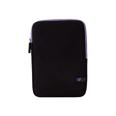 V7® Ultra Protective Sleeve For iPad Mini and Tablets Upto 8in., Black/Purple