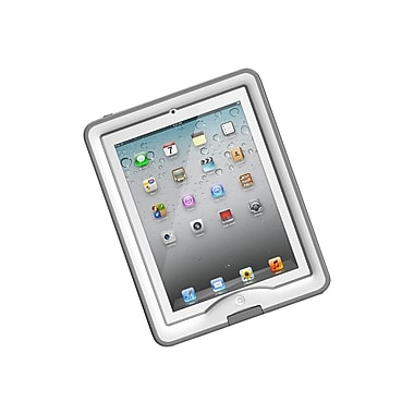 LifeProof® Nudd Case and Cover/Stand For iPad 2/3/4, White/Gray