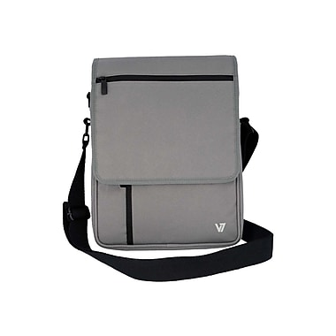 V7 Vertical Messenger Bag For iPads and Tablets Upto 10.1in., Grey