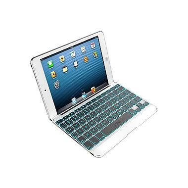 Zagg® Cover With Backlit Keyboard For Apple iPad Mini, Silver