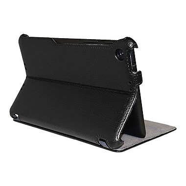 Amzer® Shell Portfolio Case For Asus New Nexus 7, Black Leather Texture