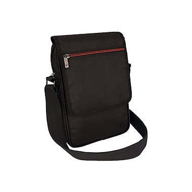 V7 TDM21BLK-1N Polyester Premium Messenger Bag for 8.1 Apple iPad Mini and Tablet PCs, Black